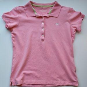 Vineyard Vines short-sleeve pink polo shirt
